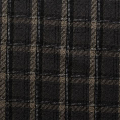 Upholstery Fabric Plaid by Wilde Faux Wool Cotton Plaid Tartan Dogtooth