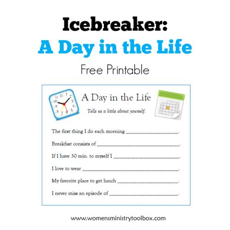 printable christmas icebreakers icebreaker a day in the life free printable toolbox