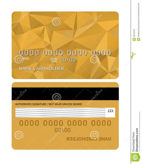 Credit Card Design Template Vector Credit Card Stock Vector Image 52570574