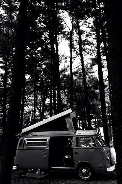 vw bus camping blackwhite westfalia  dubya vw bus vw camper volkswagen bus
