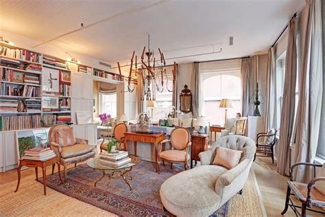 Bedroom Sitting Area by Shabby Chic Soho Loft Featured In Elle Decor Asks 3m 6sqft