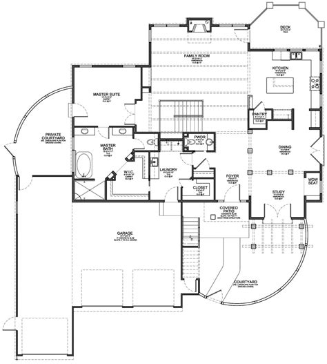 santa fe style house plan evstudio architect engineer