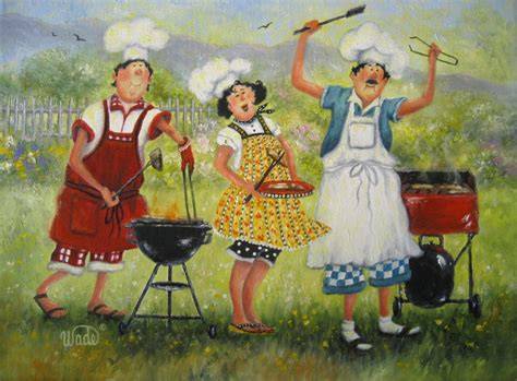 painting cooking picnic chefs print chefs chef paintings chef