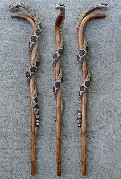 stick design rattlesnake wrapped walking 25 walking sticks and original paintings by mike stinnett