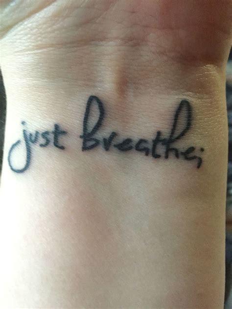 just breathe wrist tattoo 37 awesome breathe tattoos