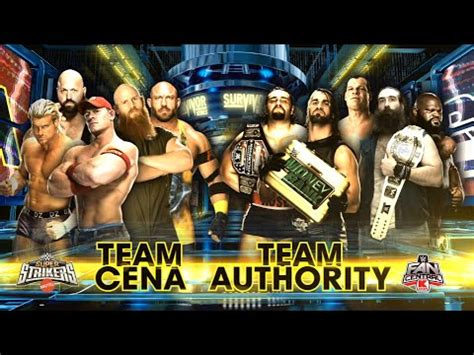 Match Card Template Tag Team by Survivor Series 2014 Team Cena Vs Team Authority Part
