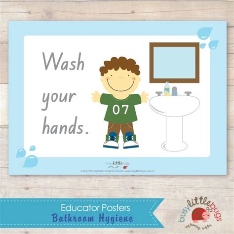 Hygiene Of Childhood busy bugs bathroom hygiene posters for childhood