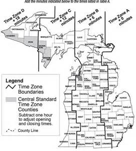 Michigan Time Zone Map by Time Zones In Michigan Michigan Student Caucus