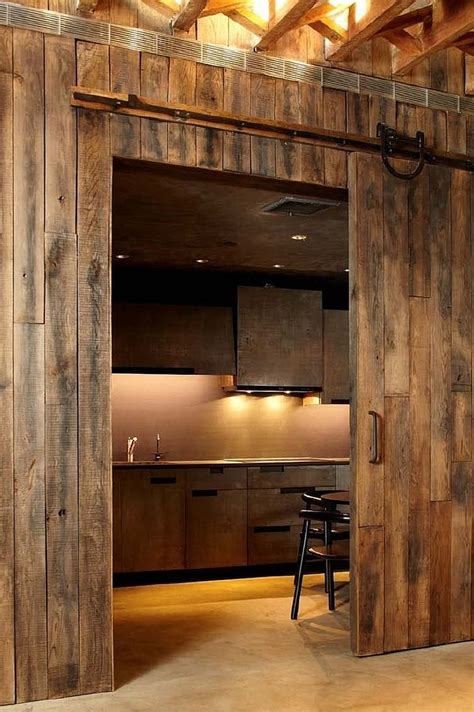 Barn Door Catering 25 Trendy Kitchens That Unleash The Of Sliding Barn Doors