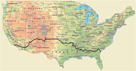 usa map routes united states route map