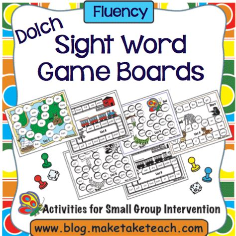 printable board games sight words teaching sight words make take teach