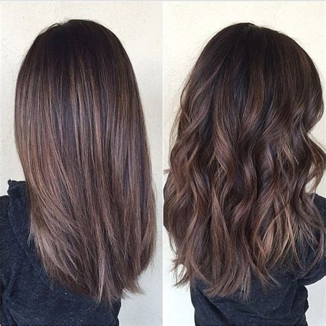 how to balayage med layered dark brown 25 best ideas about brown balayage on pinterest balyage