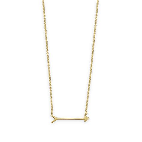 14 karat gold plated cupid s arrow necklace