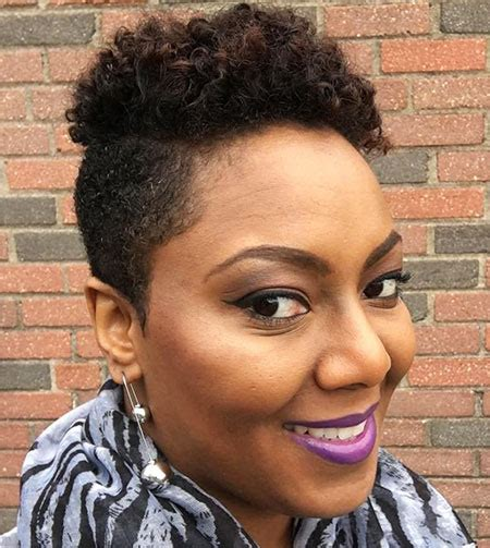 styling of freezing african hair 30 super short curly hairstyles for women short