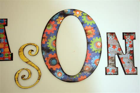 decoupage wood letters sew grown decoupage for the boy tutorial