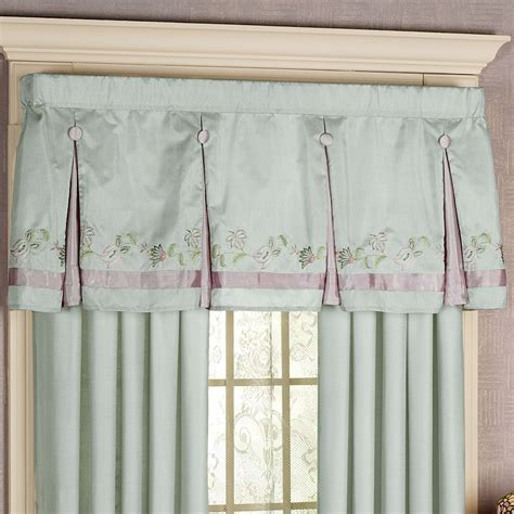Box Pleat Valance Ansley Box Pleated Valance Dusty Aqua 60 X 20 Touch Of Class