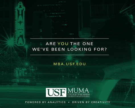 Usf Mba Application by Of South Florida Muma College Of Business Mba
