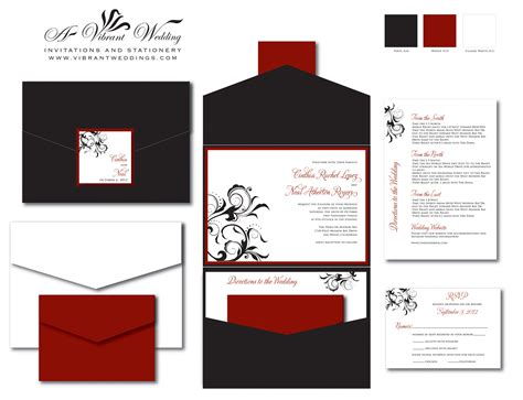 wedding invitation design red motif red and black wedding invitation a vibrant wedding