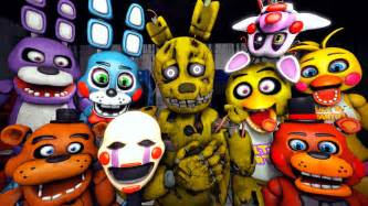 Five nights at freddy s 4 teaser animatronics reaction to plushtrap