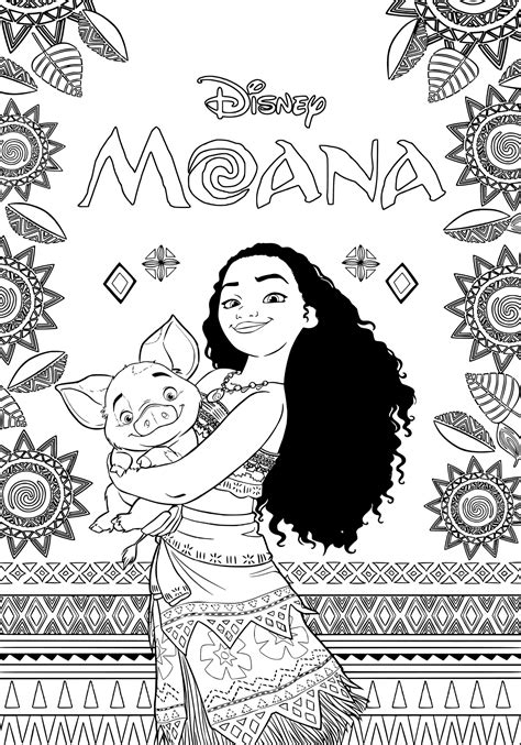 coloring page moana moana coloring pages best coloring pages for kids