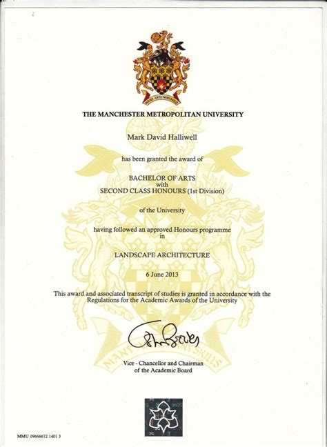masters degree certificate template international