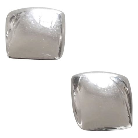 monet silver tone clip on earrings for sale at 1stdibs
