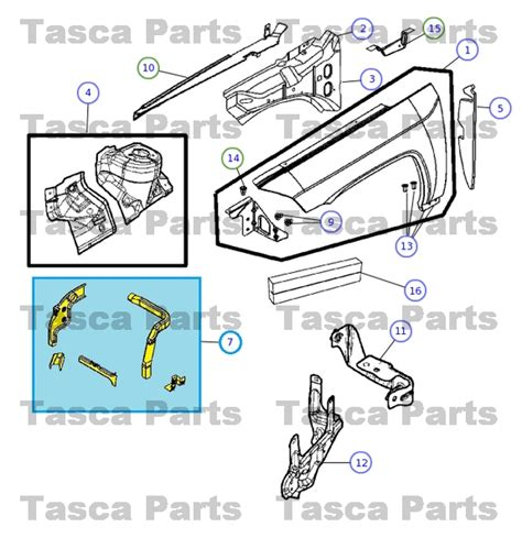 2014 Jeep Compass Parts New Oem Mopar Right Side Rh Front Fender Reinforcement