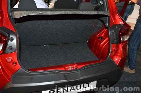renault kwid boot space renault kwid boot india unveiling indian autos blog