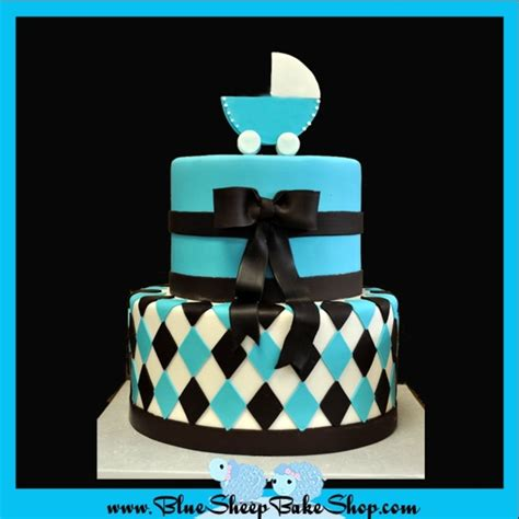 Black And Blue Baby Shower by Brown And Blue Baby Shower Cake Cakecentral
