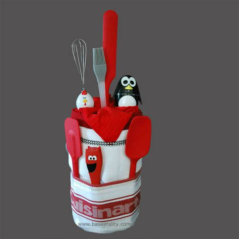 kitchen gift ideas for penguin timer cake gift basket basketality