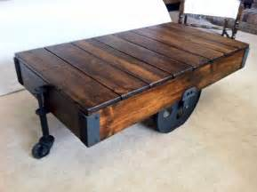 factory cart coffee table hometalk diy factory cart coffee table