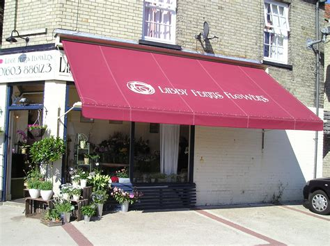 shop awnings traditional pull down shop awnings
