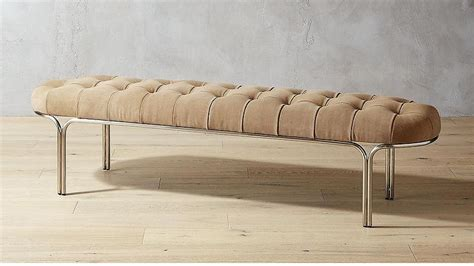 Tabouret Bench by Tabouret Brushed Copper Metal Bench