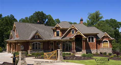 Mountain Craftsman Home Plans by Garrell Associates Inc Achasta House Plan 08103 Front