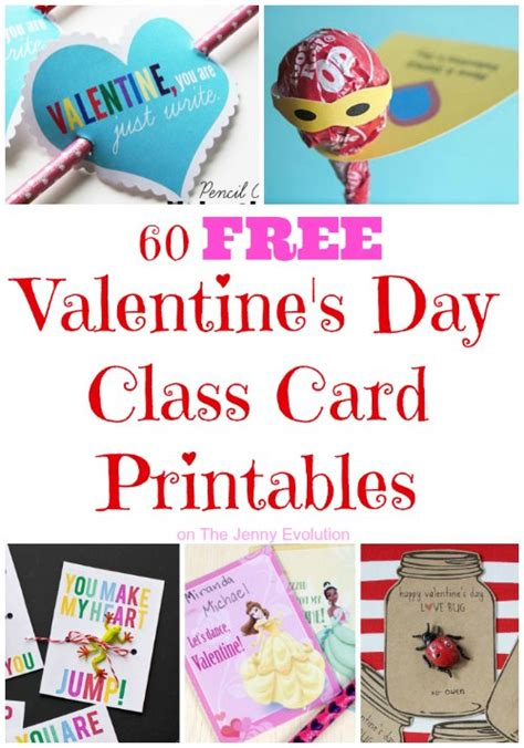 valentines class 60 free s day class card printables for children