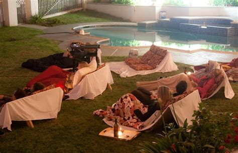 backyard movie party ideas an outdoor movie party party ideas pinterest