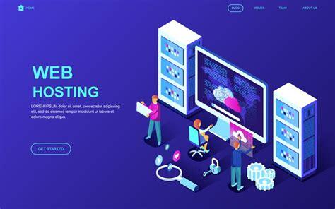 web hosting web banner   vectors clipart