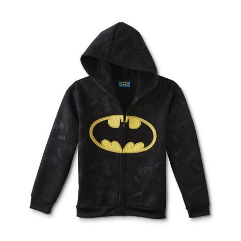 dc comics batman boys fleece hoodie jacket