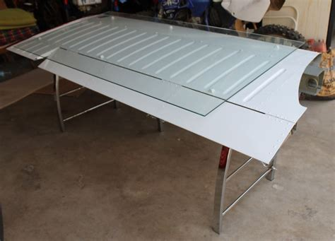 airplane desk desk made from an airplane wing diy airplanes and desks