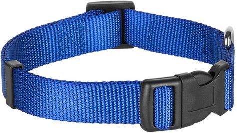 T7554 60 Collar Bluebery blueberry pet classic solid collar large royal blue chewy