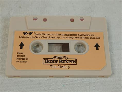 teddy ruxpin cassette teddy ruxpin 1985 quot the airship quot cassette worlds of