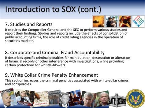 section 8 fraud penalties enron corporate governance scandal nesr