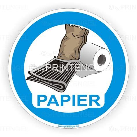 Aufkleber Papier by Wertstoffaufkleber Hinweisaufkleber Papier