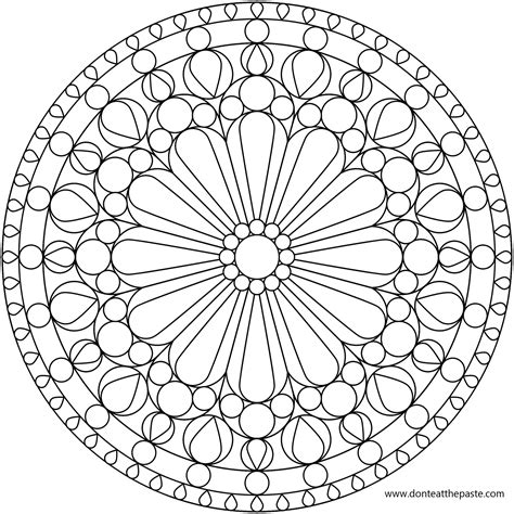 don t eat the paste rose windows mandala coloring pages