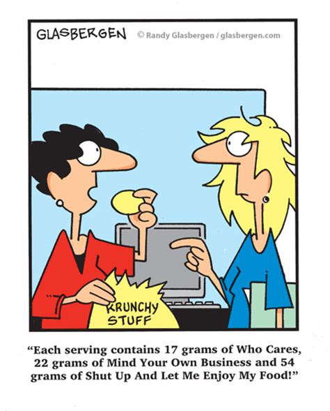 And Being Loved And Being Chased Real Comic nutrition randy glasbergen glasbergen service