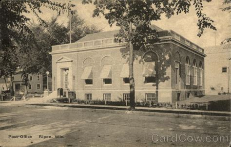 Ripon Post Office by Post Office Ripon Wi Postcard