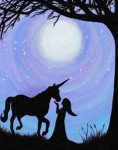 paint nite unicorn best 25 silhouette painting ideas on tree