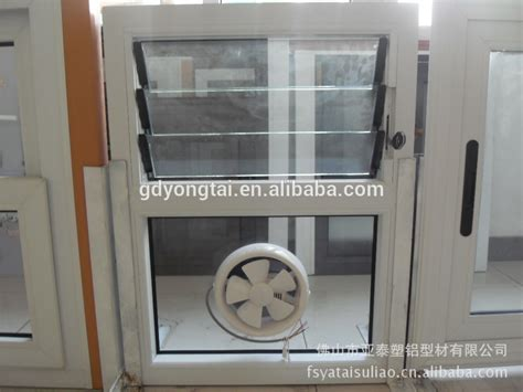 window exhaust fan bathroom upvc ventilator window with exhaust fan for kittchen or