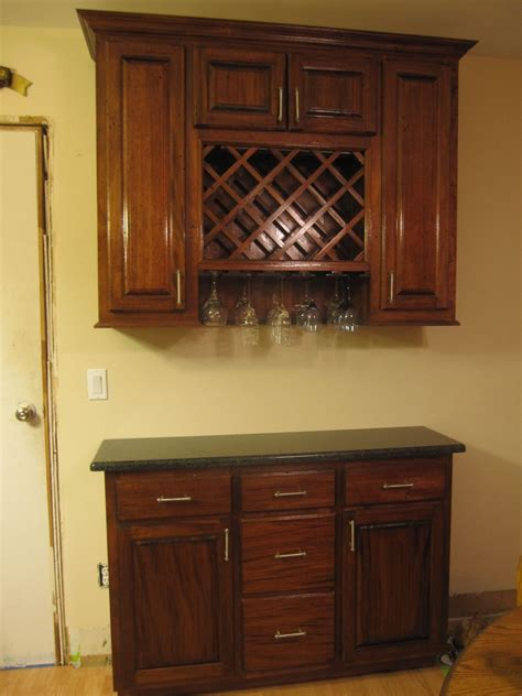 made wine rack cabinet by cross cut construction