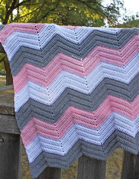 new crochet pattern for baby chevron blanket crochet items similar to crochet chevron baby afghan made to